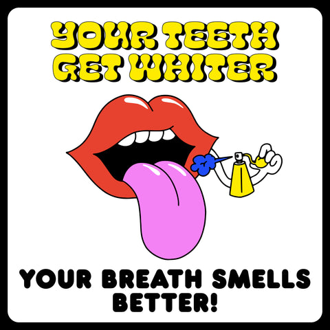 What happens to your body when you quit smoking. Your teeth get whiter and your breath smells better.