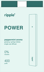 Ripple's nicotine free peppermint diffuser, POWER