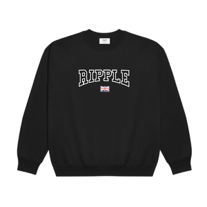 Ripple's Black Graphic Tourist Sweatshirt