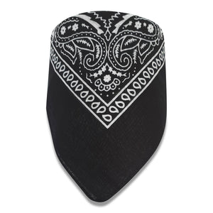Fashion Paisley print Bandana in 100% cotton-Black
