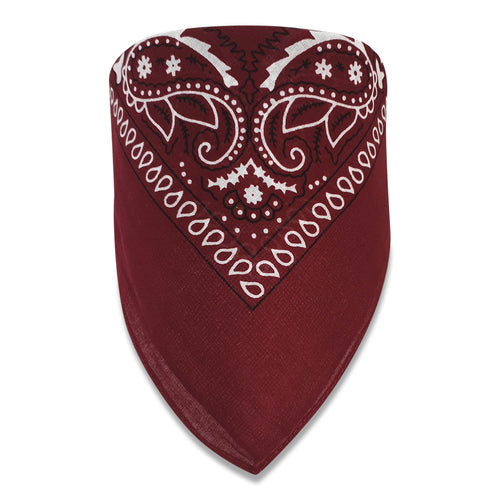 Fashion Paisley Print Bandana in 100% cotton-Maroon