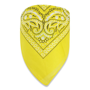 Fashion Paisley Print Bandana in 100% cotton-Yellow