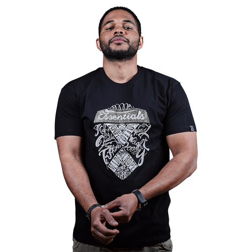 exetees Chalkboard T-Shirts in 100% cotton black