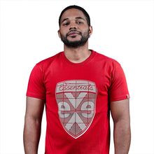 Load image into Gallery viewer, exetees Shield T-Shirts in 100% cotton red