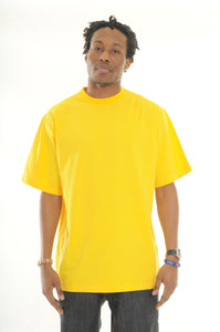 exetees Big & Tall 100% Cotton Comfort round neck T-Shirts yellow