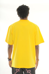 exetees Big and Tall Round Neck comfort T-Shirts-Yellow