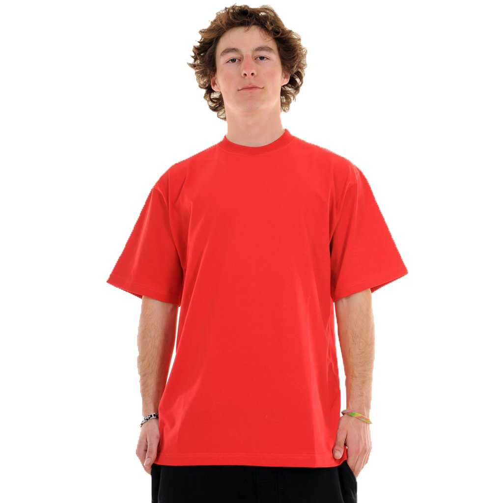 exetees Big & Tall 100% Cotton Comfort round neck T-Shirts red
