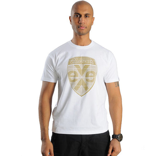 exetees Shield short sleeve T-Shirts in 100% cotton gold