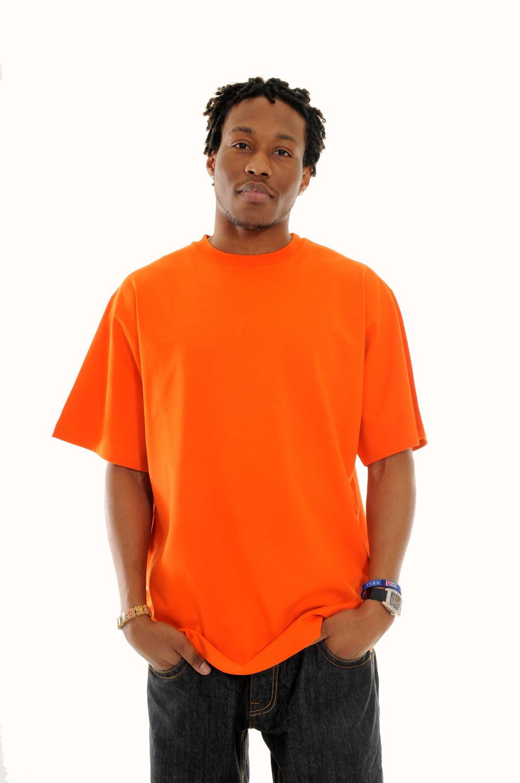 exetees Big and Tall Round Neck comfort T-Shirts-Orange