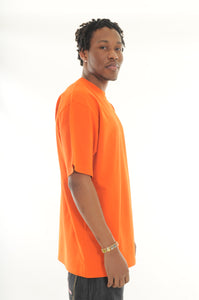 exetees Big & Tall 100% Cotton Comfort round neck T-Shirts orange