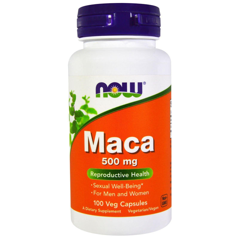 كبسولات الماكا، 500 ملغ، 100 كبسولة هلامية | , Maca 500 mg 100 Veg Capsules | Now