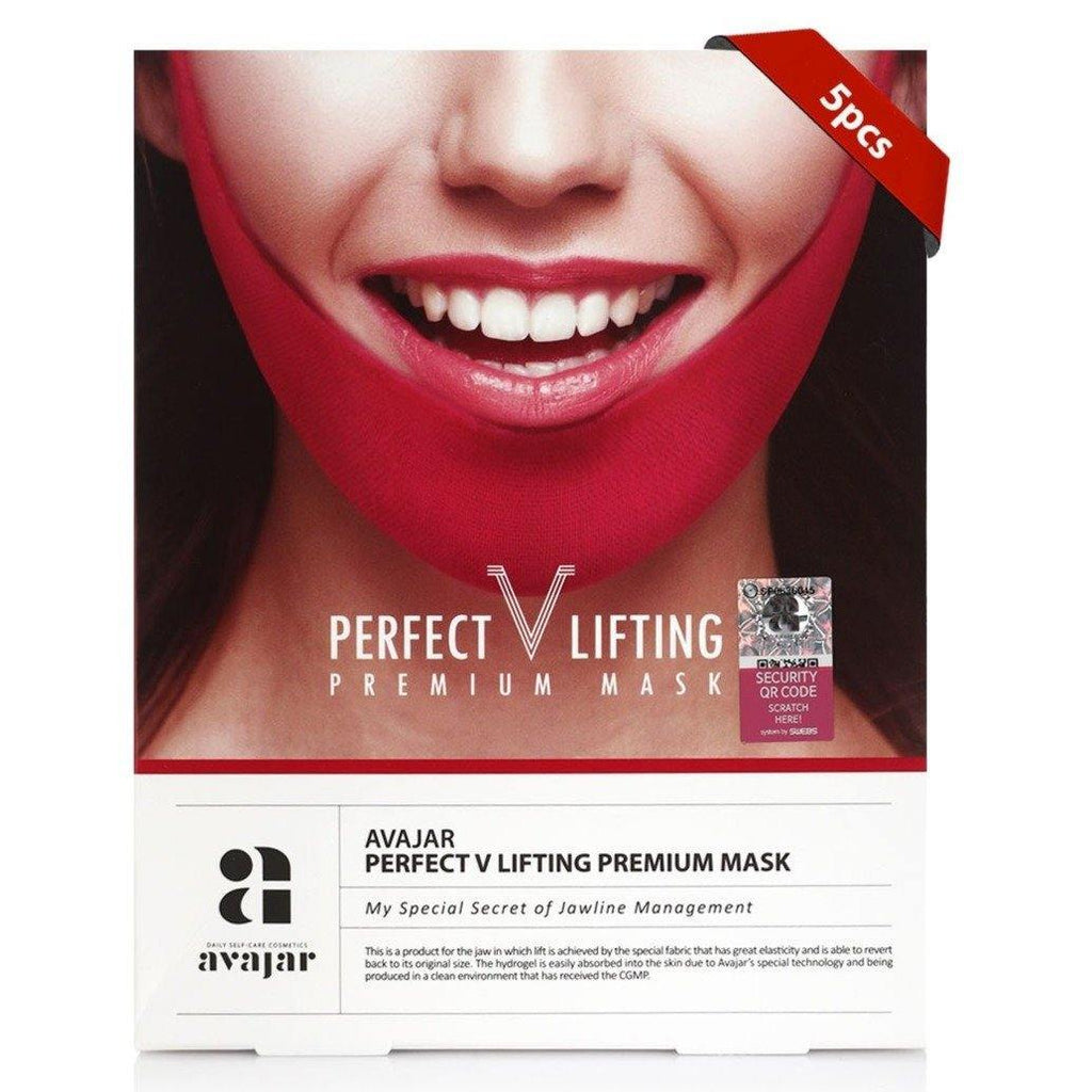 قناع بيرفكت افاجار للشد الدقن - 5 اقنعة | Avajar Perfect V Lifting Premium Mask - 5 sheets - DarBeauty