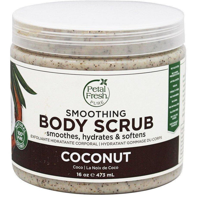 مقشر جوزالهند 437ML | Coconut Oil Body Scrub Moisturizing 16 Oz 473ml | Petal Fresh