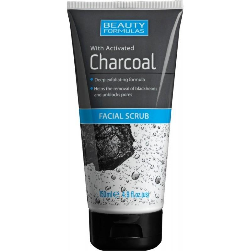 مقشر للوجه بالفحم النباتي 150مل | X2  FACIAL SCRUB WITH ACTIVATED CHARCOAL EXFOLIATING 150ML - sooqaman