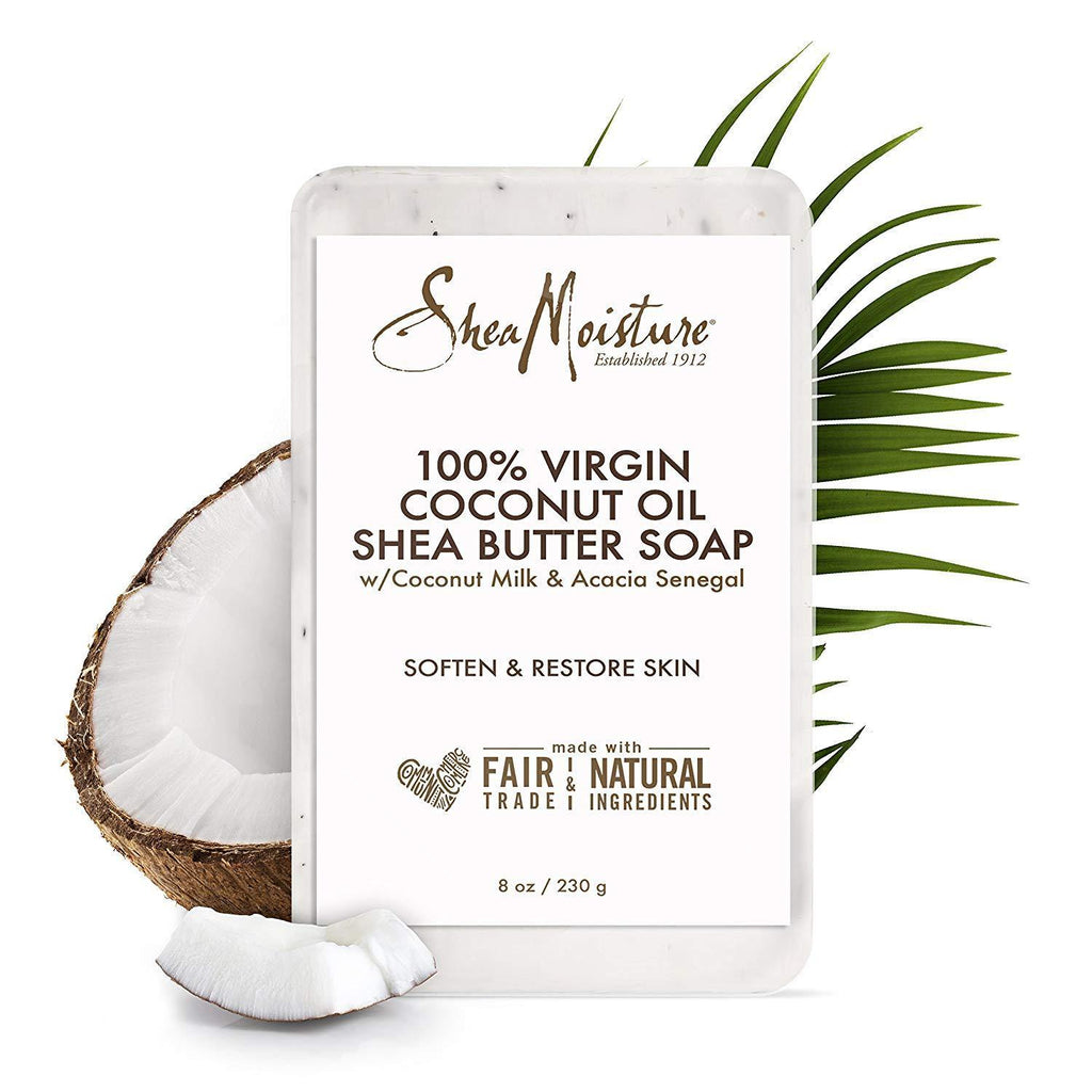 صابون الشيا الطبيعي 230g | Virgin Coconut Oil Shea Butter Soap - sooqaman