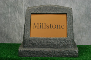 Large Millstone Marker   /   Personalized Colored Plaque