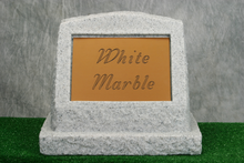 Load image into Gallery viewer, Large White Marble Marker   /   Personalized Colored Plaque
