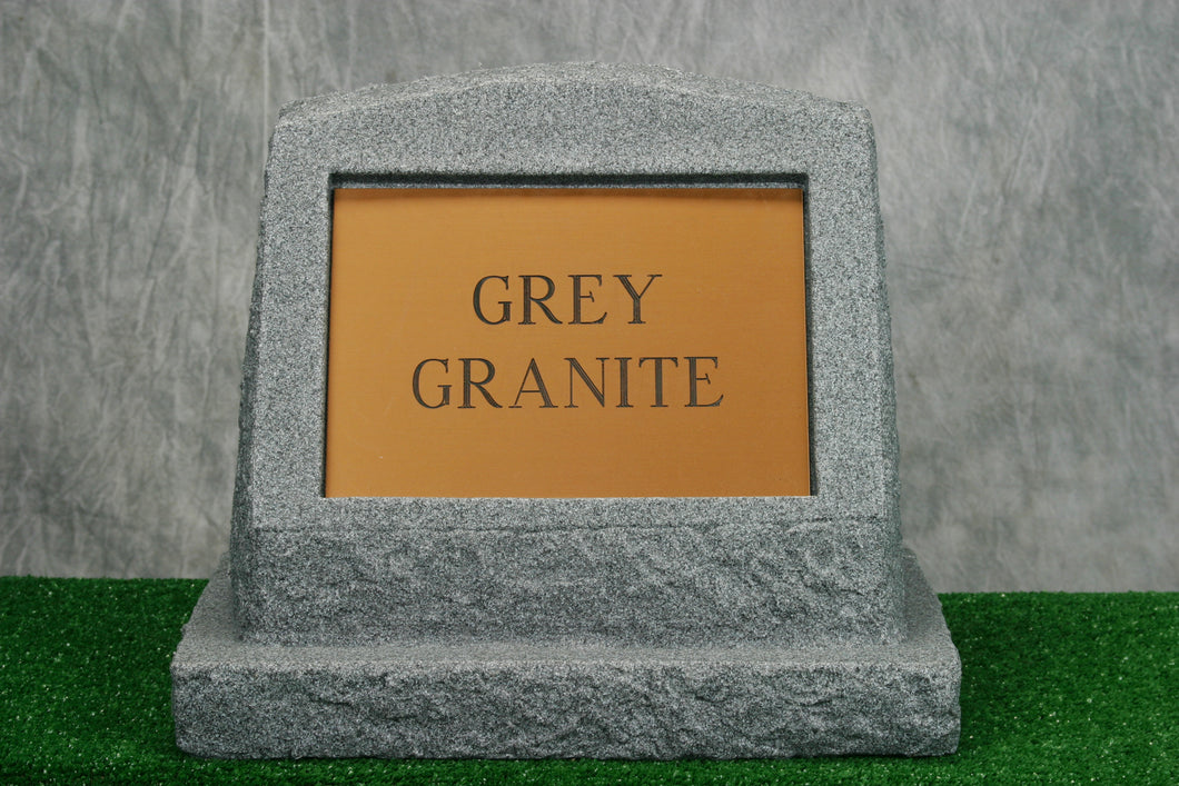 Large Grey Granite Marker   /   Personalized Colored Plaque