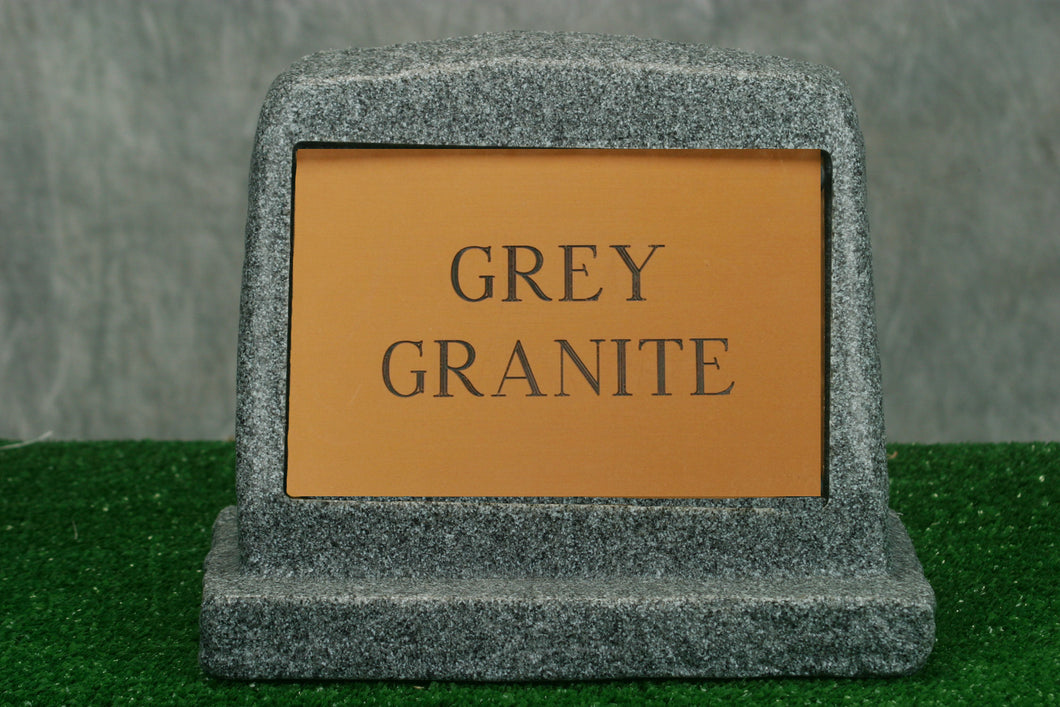 Small Grey Granite Marker   /   Personalized Colored Plaque