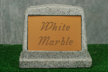 Load image into Gallery viewer, Small White Marble Marker   /   Personalized Colored Plaque