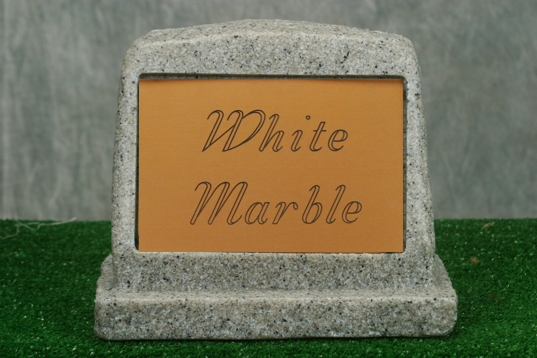 Small White Marble Marker   /   Personalized Colored Plaque