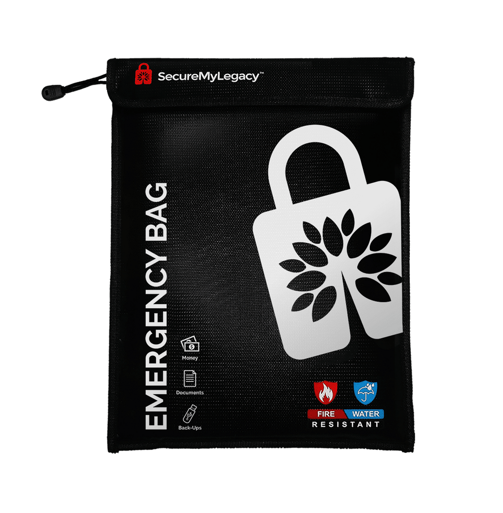 Secure My Legacy Fireproof & Water-Resistant Emergency Bag (11 in x 15 in)