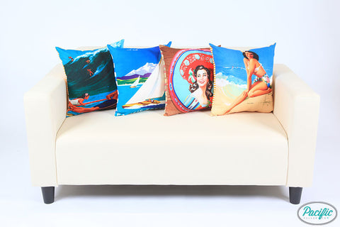 D31 Styling HAWAIIAN SURFERS + YACHT + MEXICAN TRAY + PIN UP