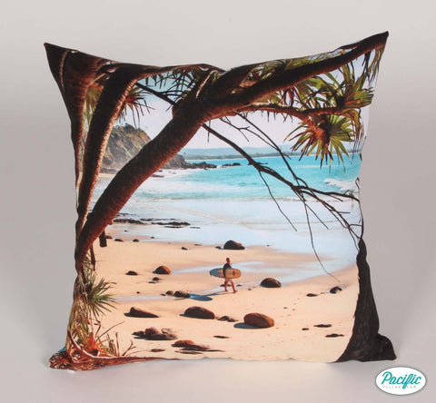 Beach Father's Day printed cushion