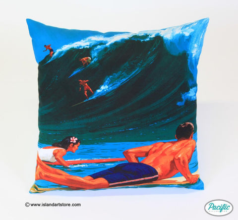 Vintage surf Father's Day printed cushion