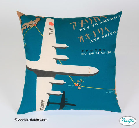 Aeroplane Father's Day printed cushion