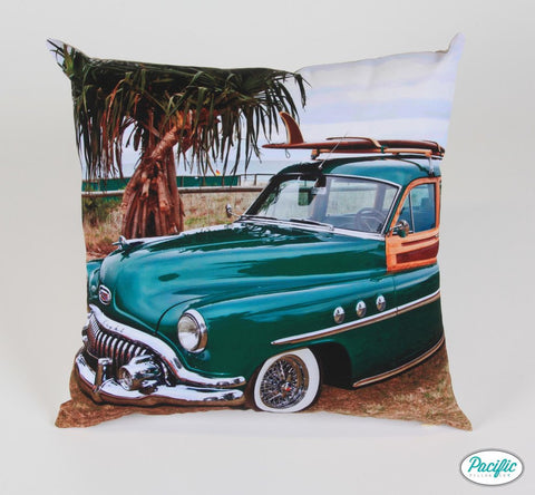 Vintage car Father's Day cushion