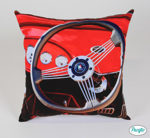 Vintage car Father's Day printed cushion