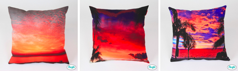 sunset print cushions by pacific pillow company