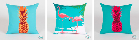 tropical print cushions by pacific pillow company