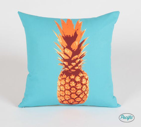Pineapple Pillow Orange/ Blue