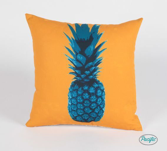 Pineapple Pillow Turquoise/ Orange
