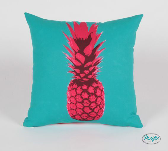 Pineapple Pillow Pink/ Aqua