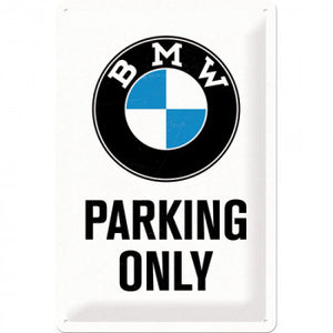 Retro Blechschild 20 x 30 cm BMW Parking Only