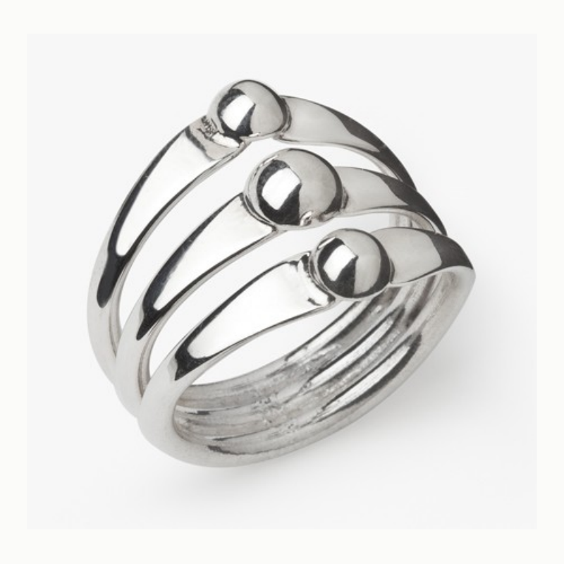 3 Ball Ring - Velvetblu Jewelry