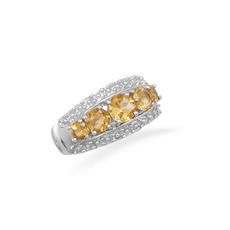 Graduated Citrine Ring - Velvetblu Jewelry