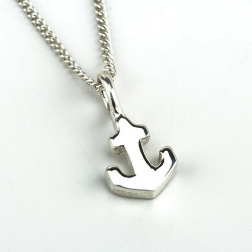 Anchor Charm Necklace - Velvetblu Jewelry