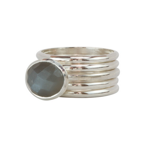 Calistoga Stacker Ring - Velvetblu Jewelry