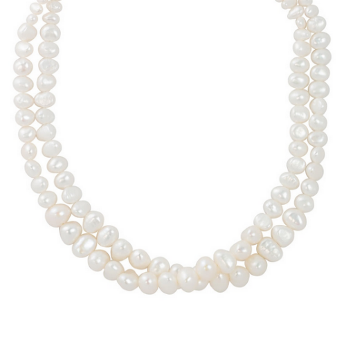Graduated Pearl Necklace - Velvetblu Jewelry