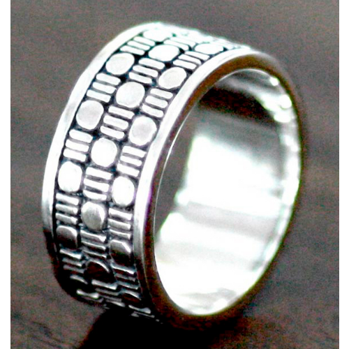 Binary Code Men's Ring - Velvetblu Jewelry