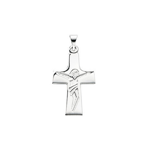Crucifix with Image Pendant - Velvetblu Jewelry