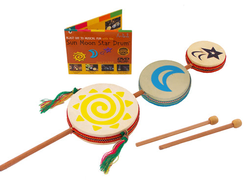 Sun Moon Star Drum w/ 30 minute online guide - J0181D