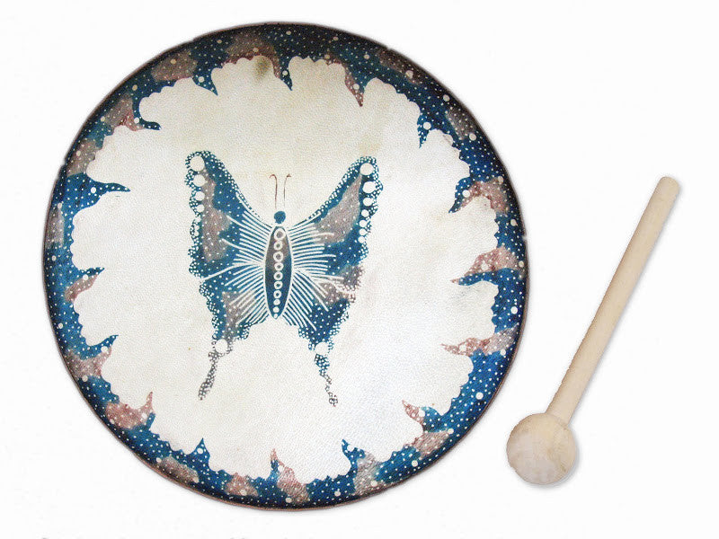Frame Drum Butterfly- J055 - Indonesia