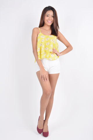 Ava Daisy Top in yellow