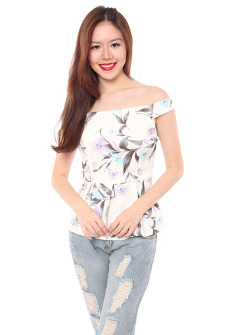 Dawn Floral Top (White)