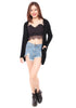 Tishia Furry Cardigan (Black)